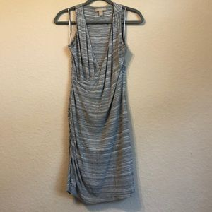 Xs banana republic grey faux wrap dress guc